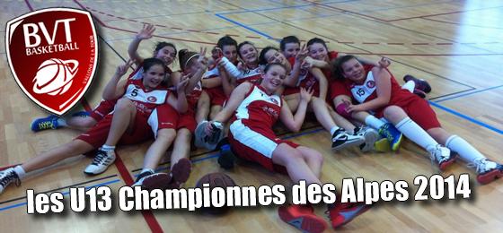 Les U13 Championnes