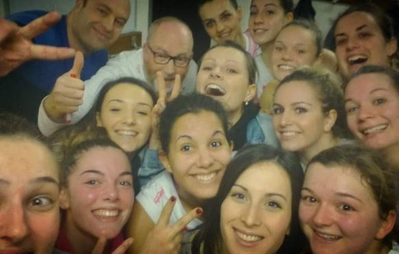 Le selfie de la victoire pour les Rosies