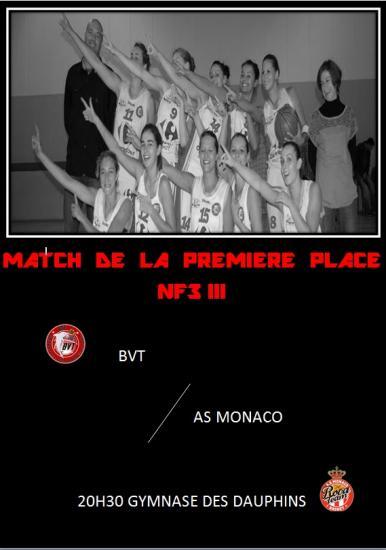 BVT reçoit Monaco ce samedi