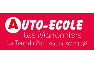 Auto ecole les marronniers logo