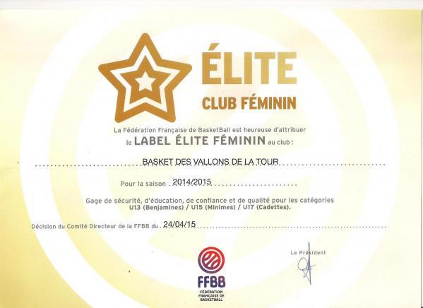 label elite pour les filles